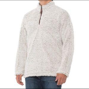 🆕 True Grit Frosty Tipped Fleece Pullover 1/4 Zip Men's Size Large
